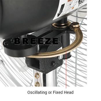 oscillating-or-fixed-head